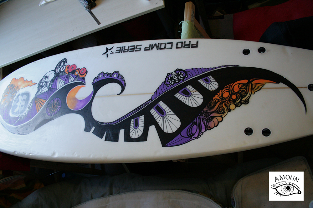 créations customisation planche de surf