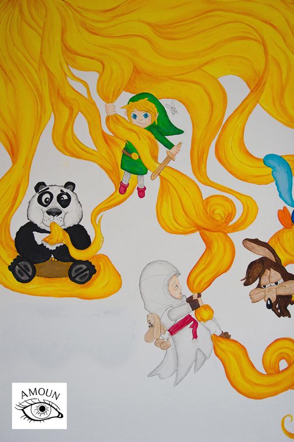 créations fresque link panda