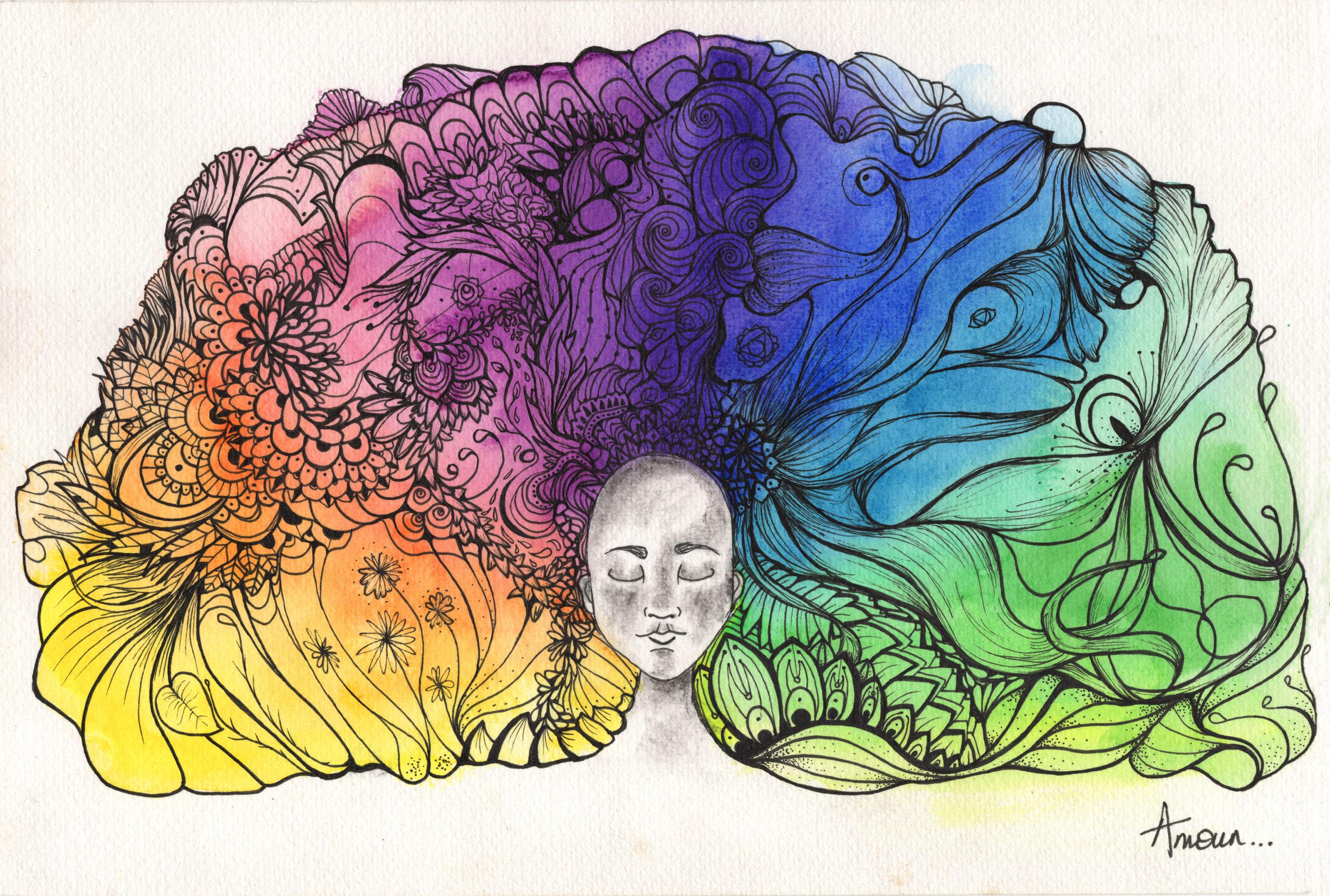 illustrations meditation