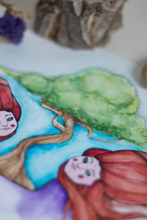 jumelles détails arbre