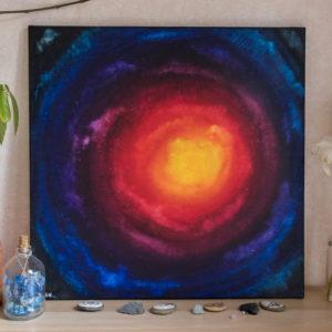 galaxie avec décors réel