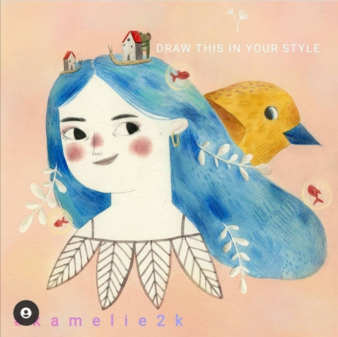 draw this in your style illustration originale kamelie